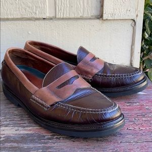Rocketport Men's Classic Brown Penny Loafers | 12